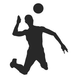Volleyball attack silhouette
