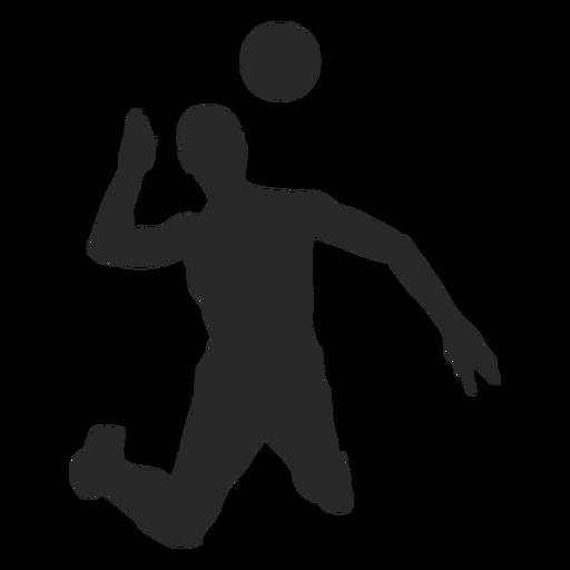 Silhueta de ataque de voleibol Transparent PNG