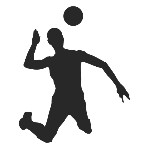 Volleyball attack silhouette Transparent PNG