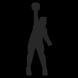 Bloque de voleibol silueta