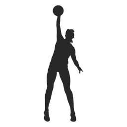 Volleyball block silhouette
