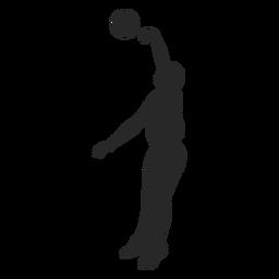Volleyball blockiert Silhouette
