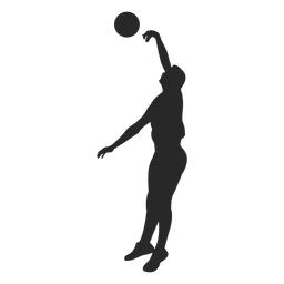 Volleyball blocking silhouette