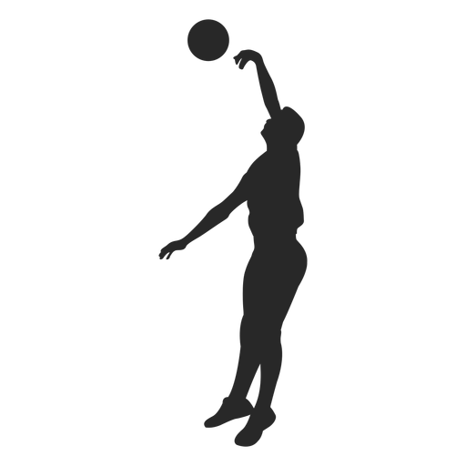 Volleyball blocking silhouette Transparent PNG