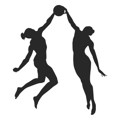 Volleyball blocking silhouette volleyball Transparent PNG