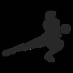 Volleyball graben Silhouette