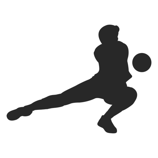 Volleyball dig silhouette Transparent PNG