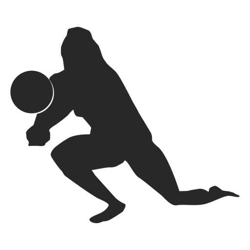Volleyball dig a spike silhouette Transparent PNG