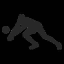 Silhueta de posição de voleibol de escavação