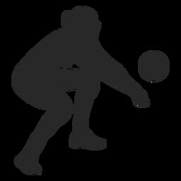 Silhueta de escavação de voleibol