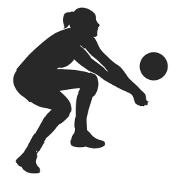 Volleyball, der Silhouette gräbt