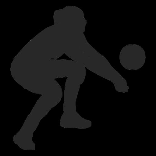 Silhueta de escavação de voleibol Transparent PNG