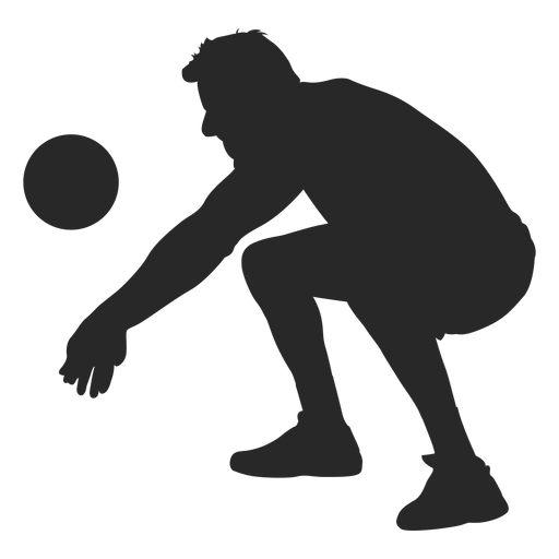 Volleyball game position silhouette Transparent PNG