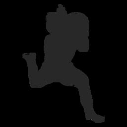 Juego de voleibol posición silueta voleibol
