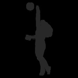 Salto voleibol servir silueta
