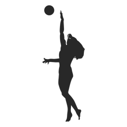Volleyball jump serve silhouette