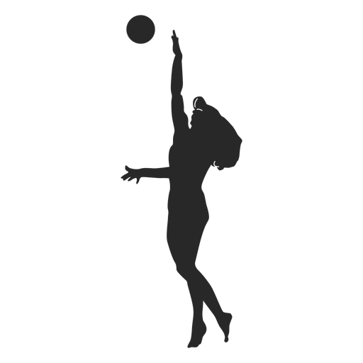 Volleyball jump serve silhouette Transparent PNG
