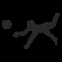 Silhueta de panqueca de voleibol