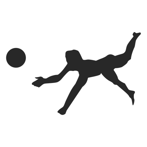 Volleyball pancake silhouette Transparent PNG