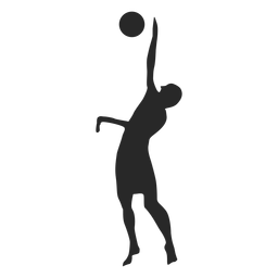Volleyball player block silhouette