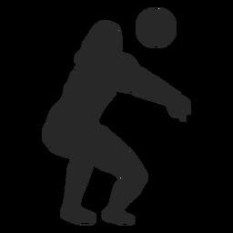 Jugador de voleibol cavar silueta