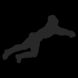 Posição de mergulho jogador de voleibol