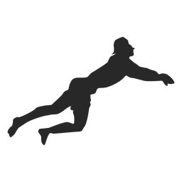 Posición de buceo jugador de voleibol