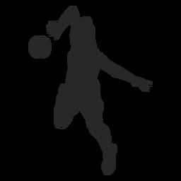 Jogador de voleibol na silhueta de posição de ataque