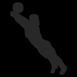 Posición de guardado de jugador de voleibol