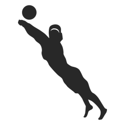 Volleyball player save position