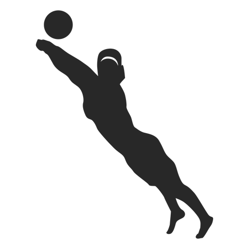 Volleyball player save position Transparent PNG