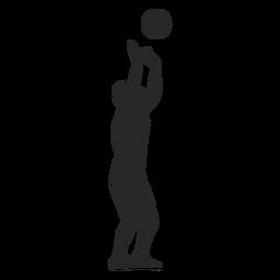 Volleyballspieler, der das Ballschattenbild einstellt
