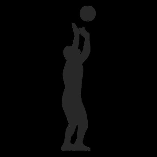 Jugador de voleibol poniendo la silueta de la pelota