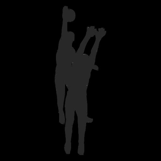 Volleyballspieler im Aktionsschattenbild Transparent PNG