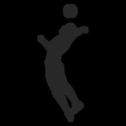 Voleibol sirve silueta