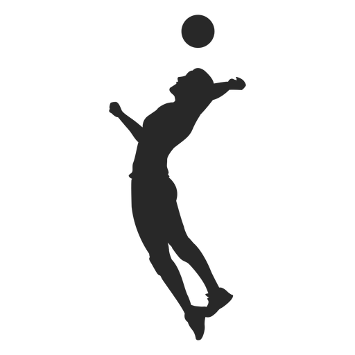 Silhueta de saque de voleibol Transparent PNG