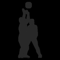 Set de voleibol silueta
