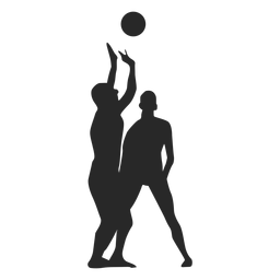 Volleyball set silhouette