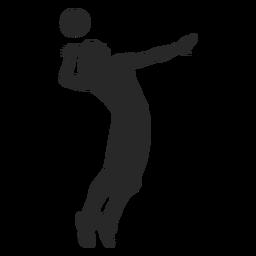 Posición de punta de voleibol