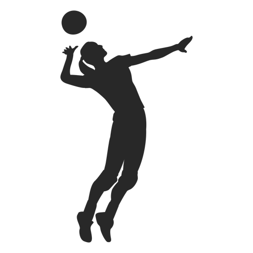 Volleyball spike position Transparent PNG