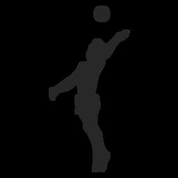 Silhueta de pico de voleibol