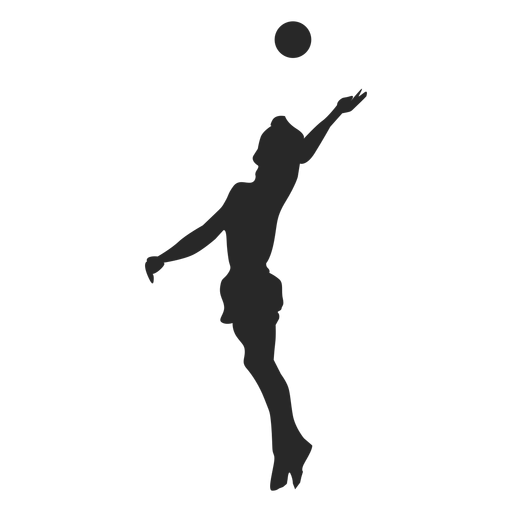 Volleyball spike silhouette