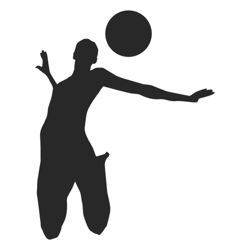 Volleyball spiking position Transparent PNG