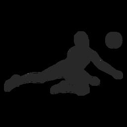 Silhueta de posição de defesa de voleibol