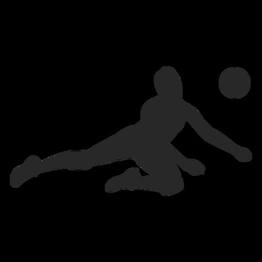 Silueta de posición de defensa de voleibol