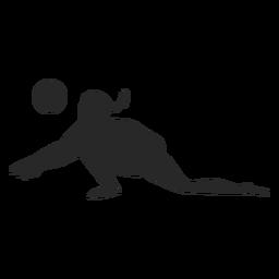 Silhueta de panqueca de jogador de vôlei