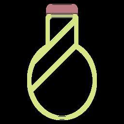 Icono de estilo de línea de botella de agua