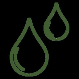 Icono de gotas de agua