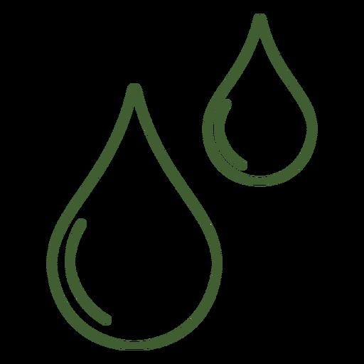 Ícone de gotas de água Transparent PNG