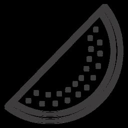 Icono de trazo de sandía